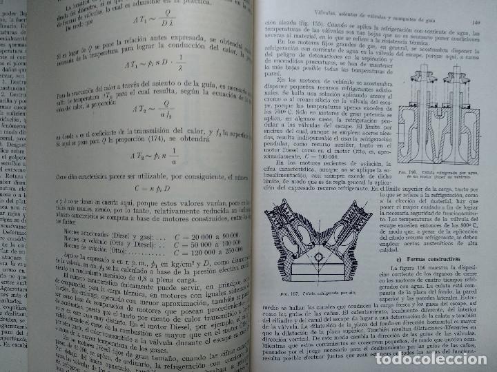 Libros antiguos: MOTORES DE COMBUSTION INTERNA IX - Distribución y regulación... (Hans List) Ed. Labor, 1952 - Foto 3 - 147743058
