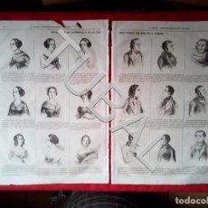 Libros antiguos: TUBAL 1850 REVELACION DEL CARACTER POR LA FISONOMIA GRABADO EN 2 HOJAS GRAN TAMAÑO MORFOPSICOLOGÍA . Lote 147743626