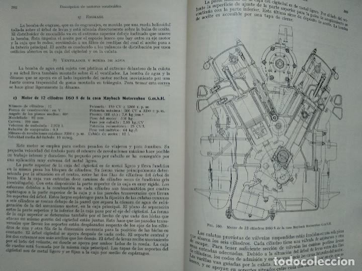 Libros antiguos: MOTORES DE COMBUSTION INTERNA X-XI Mecanismo y construcción AUTOMOVILES (Hans List) Ed. Labor, 1945 - Foto 3 - 147743662