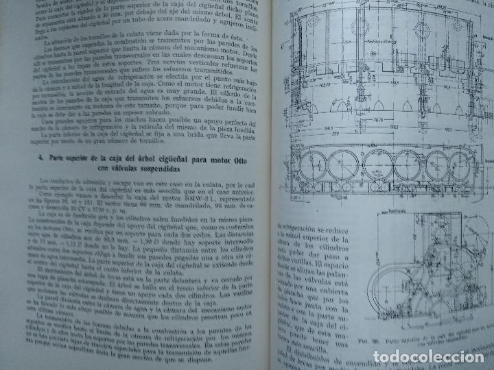 Alte Bücher: MOTORES DE COMBUSTION INTERNA X-XI Mecanismo y construcción AUTOMOVILES (Hans List) Ed. Labor, 1945 - Foto 4 - 147743662