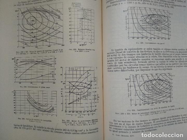 Alte Bücher: MOTORES DE COMBUSTION INTERNA XIV - Desgaste, Costes de explotación... (Hans List) Ed. Labor, 1950 - Foto 4 - 147744042