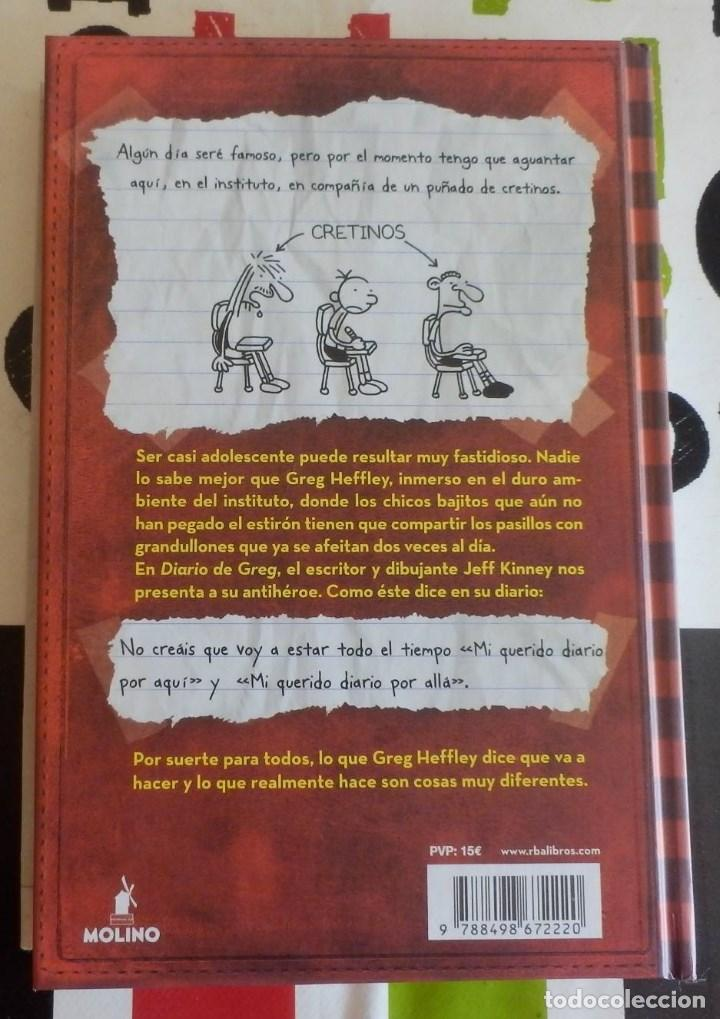 Libros antiguos: JEFF KINEY - DIARIO DE GREG 1 (UN PRINGAO TOTAL) (RBA, 2008) - Foto 2 - 147774650