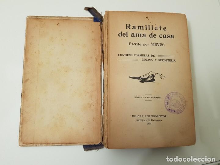 Libros antiguos: Ramillete del Ama de Casa 1924 NIEVES - Foto 4 - 147777286