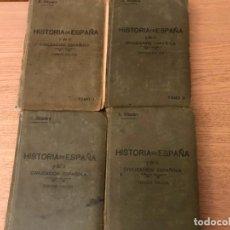 Libros antiguos: 4 TOMOS HISTORIA DE ESPAÑA Y DE LA CIVILIZACIÓN ESPAÑOLA. RAFAEL ALTAMIRA Y CREVEA. 3ª EDICIÓN. 1928. Lote 147836266