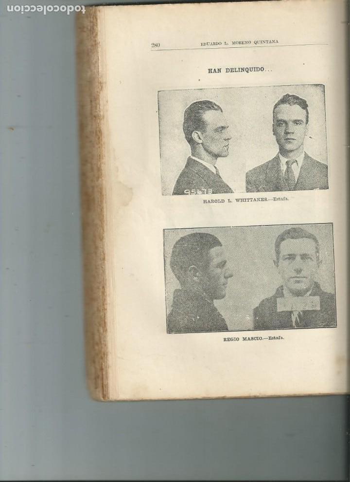 Libros antiguos: CUBA. POLICÍA Y DELINCUENTES. EDUARDO L. MORENO QUINTANA. HABANA 1934 - Foto 3 - 147905898