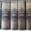 Libros antiguos: OBRAS COMPLETAS DE TOLSTOI, 4 VOL. A CARGO DE IRENE ANDRESCO. ED. AGUILAR, 2004. Lote 147974714