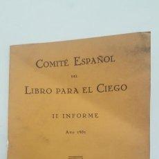 Libros antiguos: LIBRO DEL COMITE ESPAÑOL DE CIEGOS. Lote 148011650
