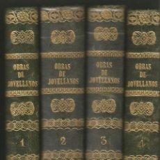 Libros antiguos: OBRAS DE JOVELLANOS. TOMOS I, II, III Y IV. 1845. Lote 148013738