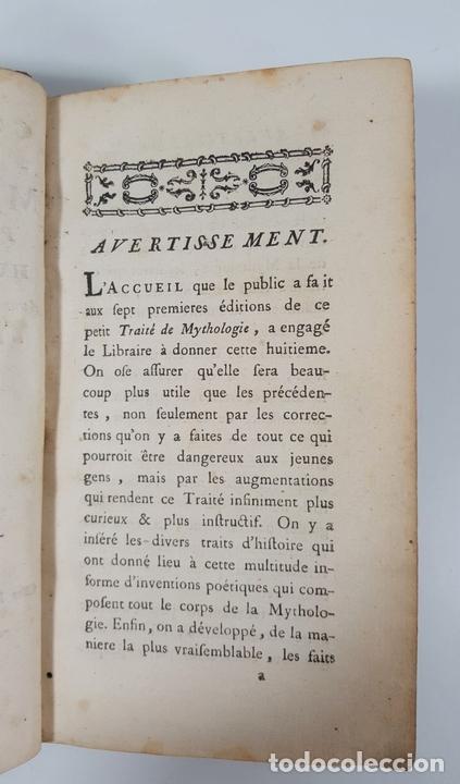 Libros antiguos: CONNOISSANCE DE LA MYTHOLOGIE PAR DEMANDES ET PAR RÉPONSES. LES FRERES PERISSE LYON. 1782. - Foto 5 - 148156070