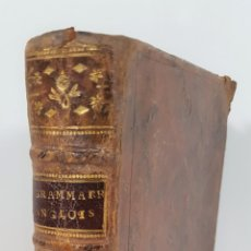 Libros antiguos: GRAMMAIRE ANGLOISE FRANÇOISE. MIEGEET BOYER. PARIS. 1763.. Lote 148187202