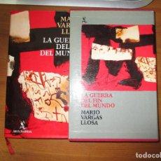 Libros antiguos: LA GUERRA DEL FIN DEL MUNDO. MARIO VARGAS LLOSA. EN ESTUCHE DE CARTÓN. SEIX BARRAL. Lote 148219362