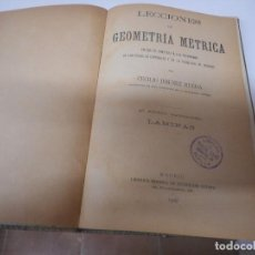Livros antigos: LECCIONES DE GEOMETRIA METRICA CECILIO JIMENEZ RUEDA 1909. Lote 148228202