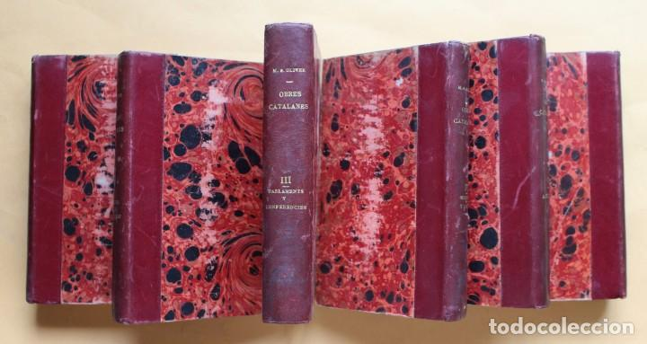 Libros antiguos: OBRES CATALANES DE MIQUEL S.OLIVER - ILUSTRACIÓ CATALANA - 6 TOMOS. - Foto 2 - 148282074