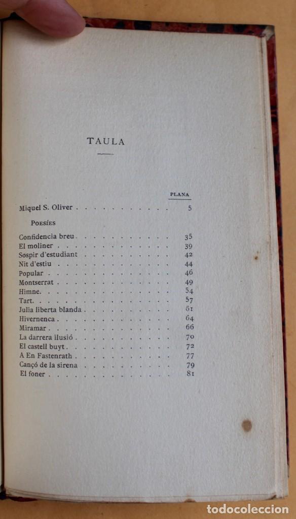 Libros antiguos: OBRES CATALANES DE MIQUEL S.OLIVER - ILUSTRACIÓ CATALANA - 6 TOMOS. - Foto 5 - 148282074