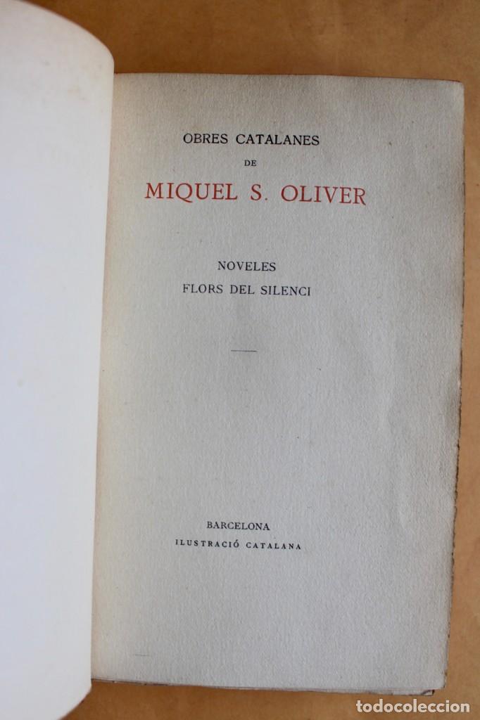 Libros antiguos: OBRES CATALANES DE MIQUEL S.OLIVER - ILUSTRACIÓ CATALANA - 6 TOMOS. - Foto 8 - 148282074