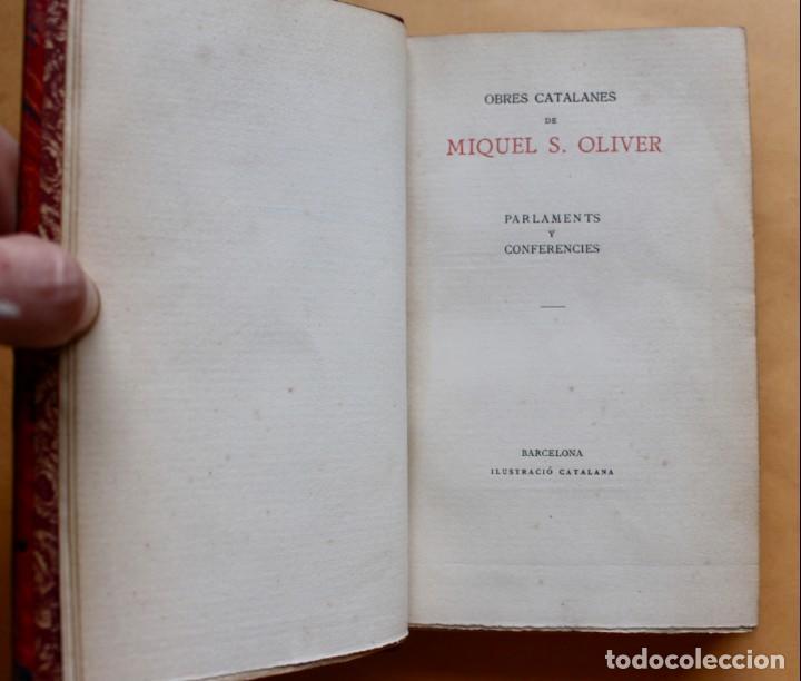 Libros antiguos: OBRES CATALANES DE MIQUEL S.OLIVER - ILUSTRACIÓ CATALANA - 6 TOMOS. - Foto 10 - 148282074
