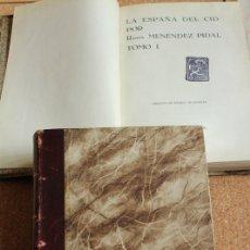 Libros antiguos: LA ESPAÑA DEL CID. MENÉNDEZ PIDAL (RAMÓN) MADRID, EDITORIAL PLUTARCO, 1929.. Lote 148151498