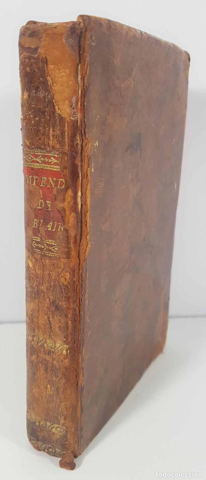 COMPENDIO DE LAS LECCIONES SOBRE LA RETÓRICA Y BELLAS LETRAS. HUGO BLAIR. TOLOSSA. 1819. (Libros Antiguos, Raros y Curiosos - Pensamiento - Otros)