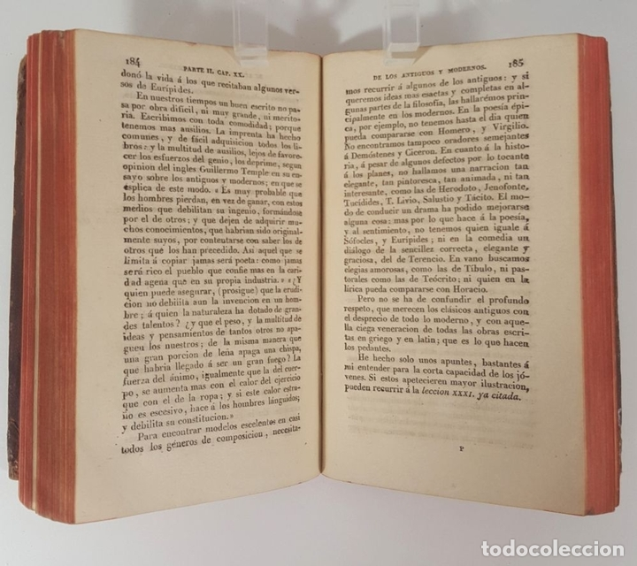 Libros antiguos: COMPENDIO DE LAS LECCIONES SOBRE LA RETÓRICA Y BELLAS LETRAS. HUGO BLAIR. TOLOSSA. 1819. - Foto 5 - 148324234