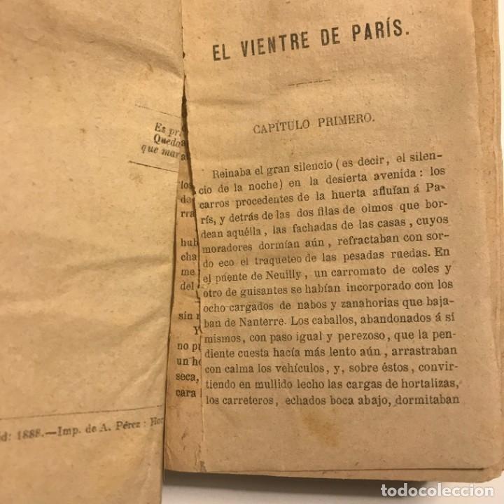 Libros antiguos: El vientre de Paris. Emilio Zola. Tomo I y II. 2a edición. 1888 - Foto 5 - 148360790