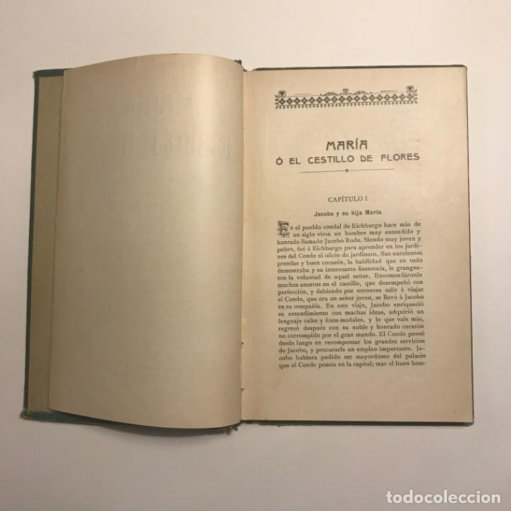 Libros antiguos: María o el cestillo de flores, de Cristobal Schmid. 1909. Biblioteca Rica - Foto 3 - 148376278