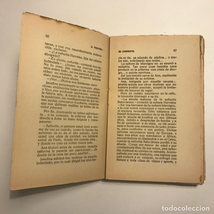 Libros antiguos: El ambiente. A. Vertiol. Biblioteca Patria de obras premiadas. Tomo 309 - Foto 3 - 148456886