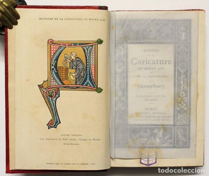 HISTOIRE DE LA CARICATURE AU MOYEN AGE ET SOUS LA RENAISSANCE. - CHAMPFLEURY. (Libros Antiguos, Raros y Curiosos - Bellas artes, ocio y coleccionismo - Otros)