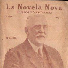 Libros antiguos: JOAN ROSSELLÓ : EN CARAGOL (LA NOVELA NOVA, 1917) EN CATALÁN. Lote 148523246