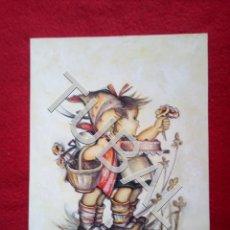Libros antiguos: TUBAL ALFONSO CARO ROSA VALLESPÌ ORIGINAL GOUACHE FELICITACION POSTAL 1972 B02. Lote 148568298