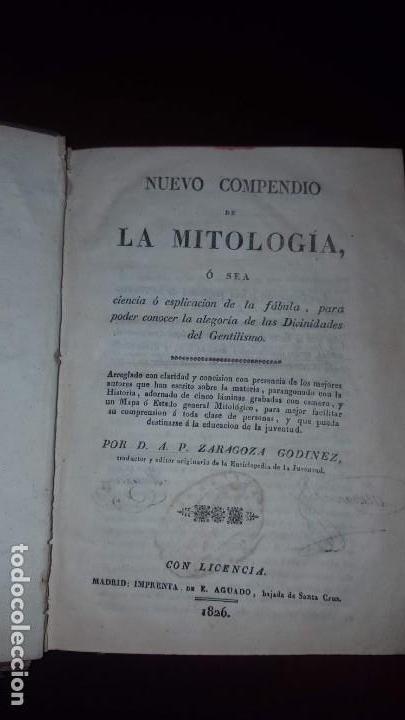 NUEVO COMPENDIO DE LA MITOLOGÍA - 1826 (Libros Antiguos, Raros y Curiosos - Literatura - Otros)