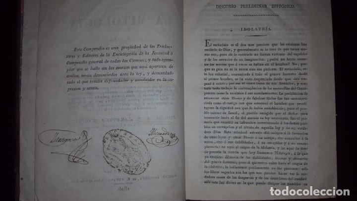 Libros antiguos: Nuevo Compendio de la Mitología - 1826 - Foto 7 - 148578558