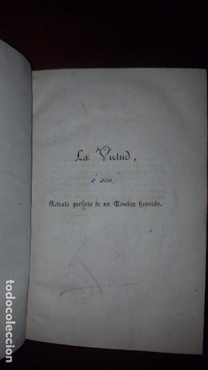 Libros antiguos: La Virtud o Retrato Perfecto de un Hombre Honrado- Zaragoza Godinez - Madrid - 1826 (muy raro) - Foto 6 - 148597294