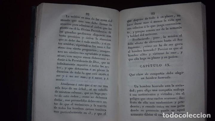 Libros antiguos: La Virtud o Retrato Perfecto de un Hombre Honrado- Zaragoza Godinez - Madrid - 1826 (muy raro) - Foto 10 - 148597294