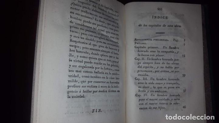 Libros antiguos: La Virtud o Retrato Perfecto de un Hombre Honrado- Zaragoza Godinez - Madrid - 1826 (muy raro) - Foto 11 - 148597294