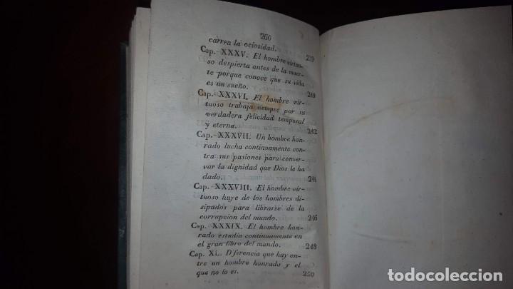 Libros antiguos: La Virtud o Retrato Perfecto de un Hombre Honrado- Zaragoza Godinez - Madrid - 1826 (muy raro) - Foto 14 - 148597294