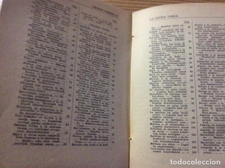 Libros antiguos: LA COCINA VASCA DOMENECH Ignacio. Ed. Publicaciones Selectas de Cocina. - Foto 5 - 148693662