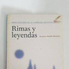 Libros antiguos: RIMAS Y LEYENDAS - GUSTAVO ADOLFO BÉCQUER. Lote 148723142