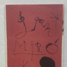 Libros antiguos: JOAN MIRO CATALOGO DESPLEGABLE - 1959 SIN DATOS. Lote 148805066