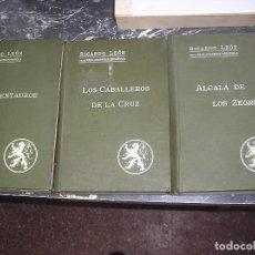 Libros antiguos: RICARDO LEÓN. DE LA REAL ACADEMIA DE LA LENGUA. 3 NOVELAS. Lote 148821006