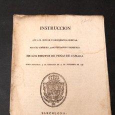 Libros antiguos: INSTRUCCION QUE S.M. MANDA OBSERVAR PARA EL GOBIERNO ... PENAS DE CAMARA - SIGLO XVIII. Lote 148888958