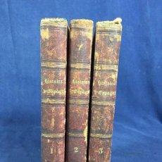 Libros antiguos: HISTOIRE D ESPAGNE JOHN BIGLAND MATHIEU DUMAS 1823 3 TOMOS COMPLETO . Lote 148901398
