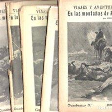 Libros antiguos: EMILIO SALGARI : EN LAS MONTAÑAS DE ÁFRICA CUADERNOS 1 A 6 (MAUCCI, 1911). Lote 148940518
