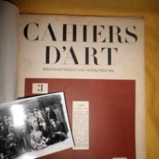 Libros antiguos: CAHIERS D´ART - AÑOS 1928-1930 - CHRISTIAN ZERVOS - MUY ILUSTRADAS.. Lote 148965098