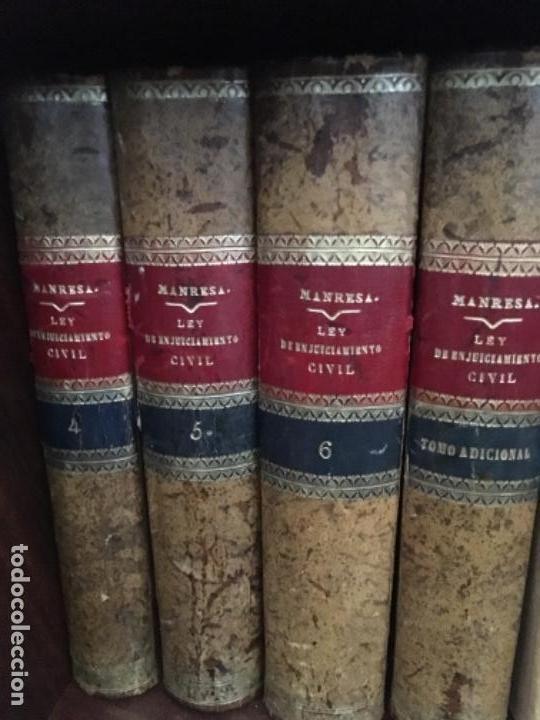 Libros antiguos: COMENTARIOS A LA LEY DE ENJUICIAMIENTO CIVIL, POR JOSÉ MARÍA MANRESA Y NAVARRO. 1910-1913 - Foto 2 - 149242110