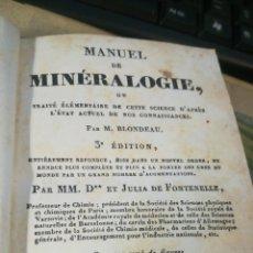 Libros antiguos: MANUAL DE MINERALOGIA. EN FRANCÉS. 425PG.. PARÍS 1831.. Lote 149248100