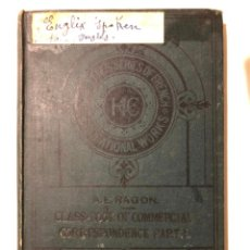 Libros antiguos: CLASS - BOOK IF COMMERCIAL CORRESPONDENCE FRENCH AND ENGLISH. 1891. BOSTON LONDON PARIS. Lote 149336378