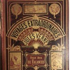 Libros antiguos: VERNE, JULIO. DOS AÑOS DE VACACIONES. PRIMERA EDICIÓN. FRANCÉS. Lote 149377342