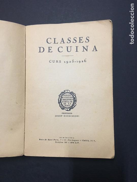 Libros antiguos: J. Rondissoni. Clases de Cuina. Curs 1925-1926. - Foto 2 - 149495277