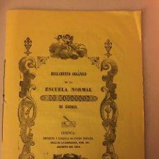 Libros antiguos: ESCUELA NORMAL MAESTRAS CUENCA 1858. Lote 193016066