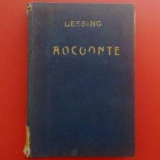 Libros antiguos: LAOCOONTE. GOTTHOLD-EFRAÍN LESSING. LIBRERÍA BERGUA. MADRID, 1934.. Lote 149596090